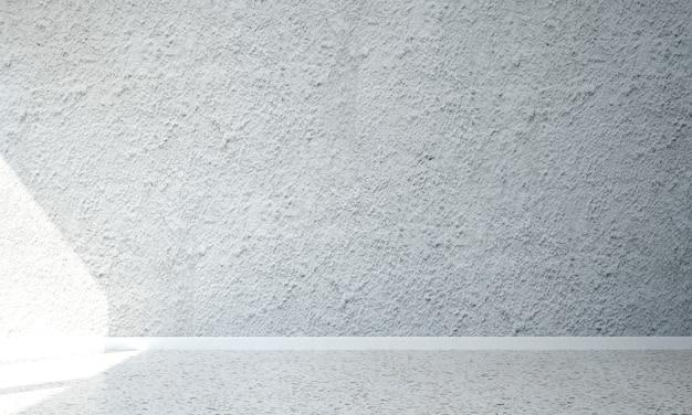 Mock up e decoração e sala de estar e fundo de parede de textura branca