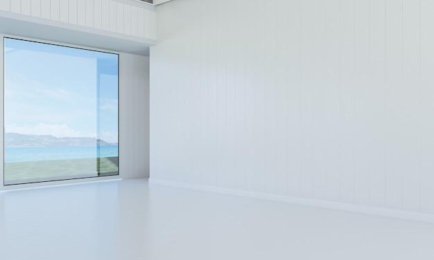 Mock up e decoração e sala de estar e fundo de parede vazio
