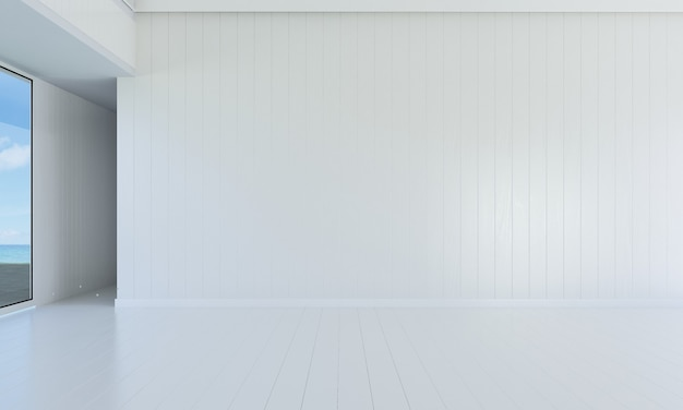 Mock up e decoração e sala de estar vazia e fundo de parede
