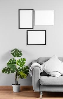 Mock up frame na parede