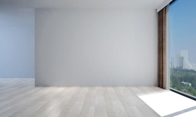 Mock up moderno decoração e sala de estar e design de interiores de fundo de textura de parede vazia