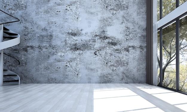 Mock up moderno decoração e sala de estar e textura de parede de concreto design de interiores de fundo