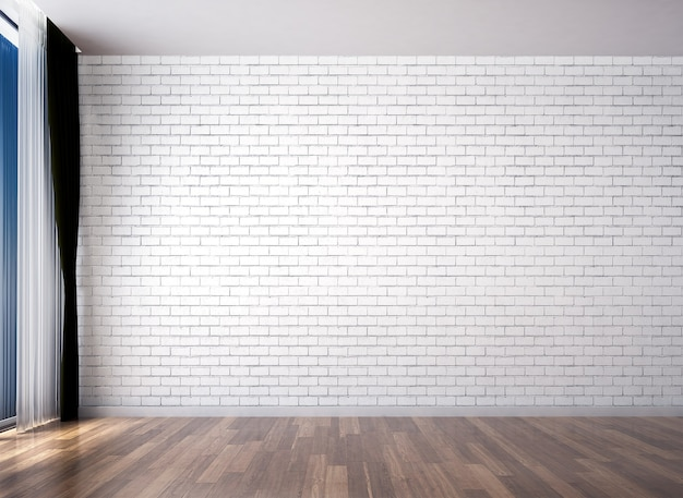 Mock up moderno decoração e sala de estar vazia e design de interiores de fundo de textura de parede branca