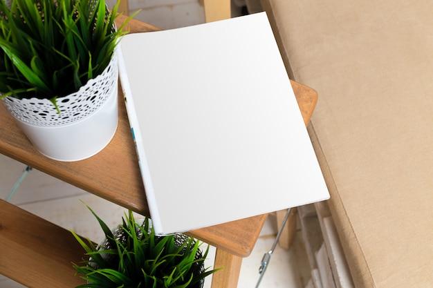 Mock up, papel fotográfico, folha branca