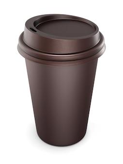Mock up para seu projeto copos descartáveis para café com tampa