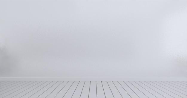 Mock up parede branca do quarto vazio. renderização em 3d