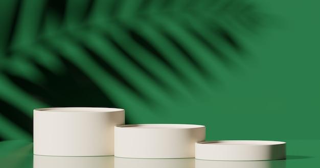 Mock up pódio para apresentação de produto conceito mínimo abstrato