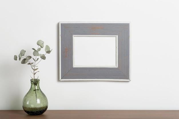 Mock up vazio quadro fundo vazio quadro decorativo para uma foto ou pintura
