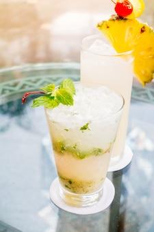 Mocktails de vidro