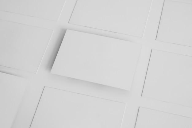 Mockup de cartões de visita brancos