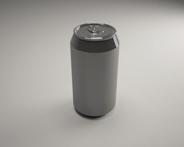 Mockup de lata de metal