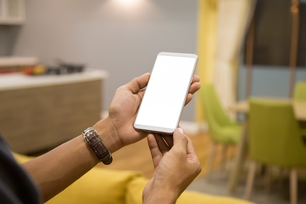 Mockup smartphoneempty display.