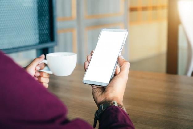 Mockup telefone celular.