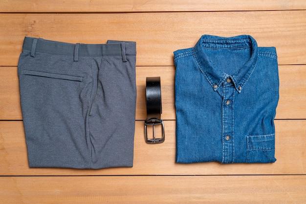 Moda casual bonito homens e conjunto de roupas