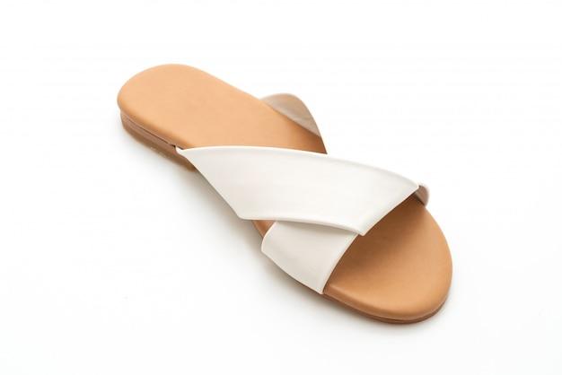 Moda linda mulher e mulher sandálias de couro