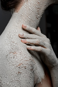 Moda pele seca. imagem de arte
