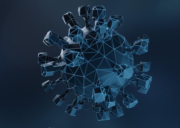 Modelagem 3d do vírus covid