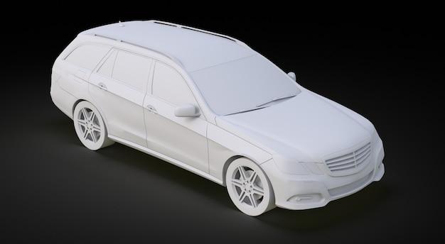 Modelo 3d de um grande carro familiar com um manuseio esportivo e ao mesmo tempo confortável