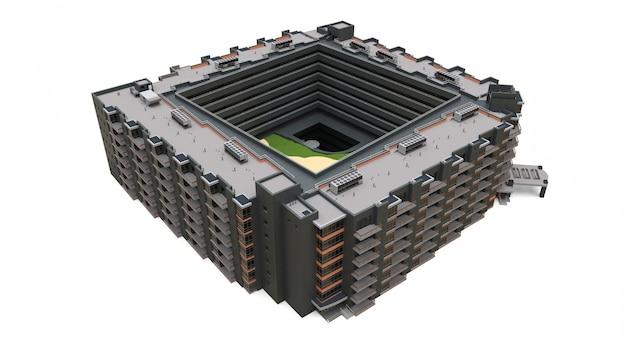 Modelo 3d do condomínio