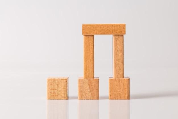 Modelo da casa de madeira