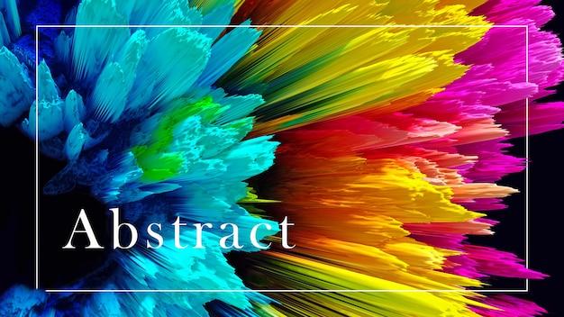 Modelo de apresentação abstrato de cores diferentes em um fundo preto modelos de fundo colorido para apresentações