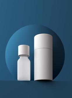 Modelo de apresentação de produto cosmético