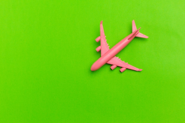 Modelo de avião, avião na cor pastel.