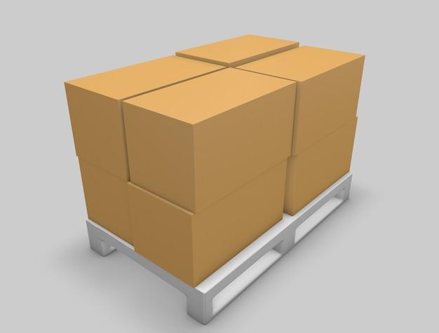 Modelo de caixa da caixa 3d