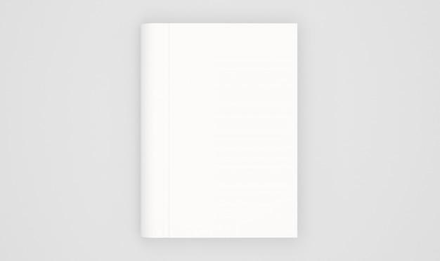 Modelo de capa de livro em branco isolado no branco