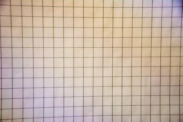 Modelo de célula de textura de papel de caderno. folha quadrada em branco do plano de fundo do caderno. design plano. ilustração vetorial