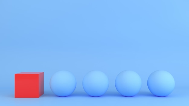 Modelo de cor pastel de forma geométrica abstrata conceito de estilo moderno minimalista