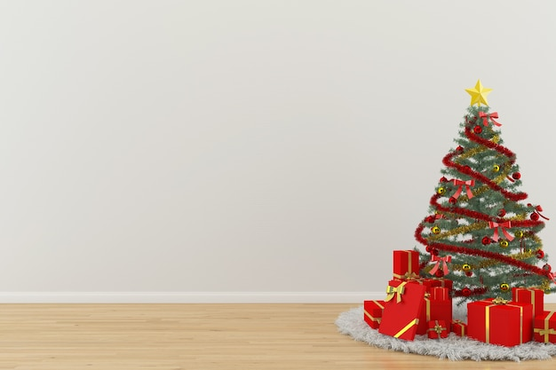 Modelo de decoração de interiores de parede de madeira piso de madeira modelo de decoração de interiores