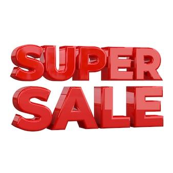 Modelo de design de banner super venda, promoção especial