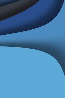Modelo de fundo abstrato azul profundo com linhas de onda para estilo de negócios nas cores da moda 2020