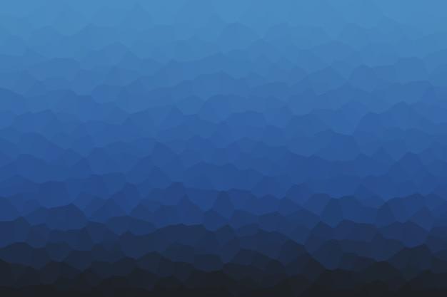 Modelo de fundo abstrato de célula azul profundo nas cores da moda 2020.