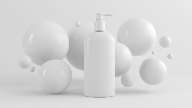 Modelo de gel desinfetante para as mãos renderização em 3d