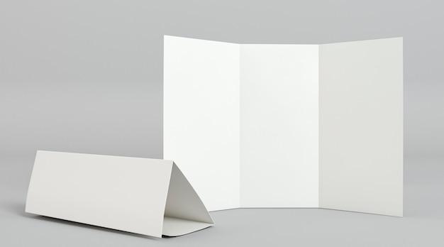 Modelo de impressão de folheto com três dobras