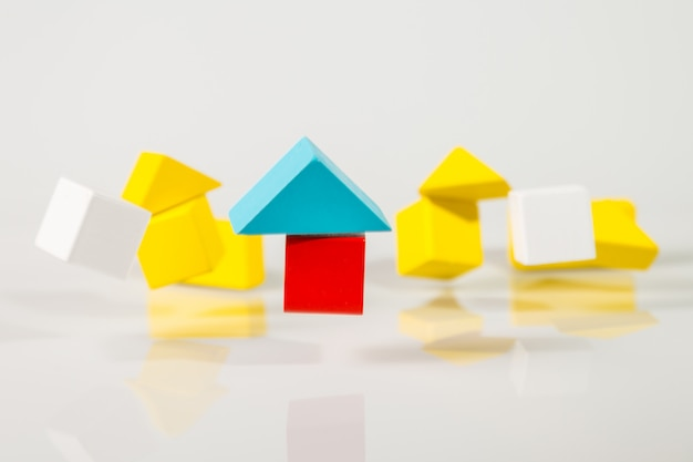 Modelo de madeira casas tremendo