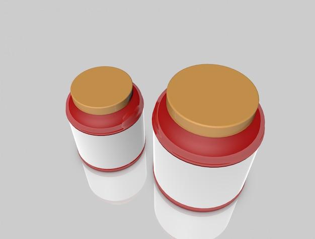 Modelo de maquete de pote