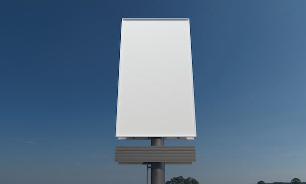 Modelo de maquete de sinal de outdoor