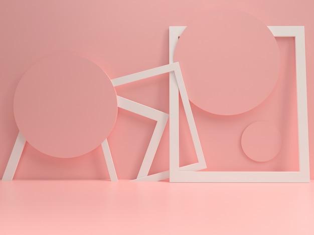 Modelo de maquete pastel pódio verão estilo mínimo