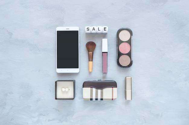 Modelo de moda moda elegante, banner de compras. fundo de moda feminina