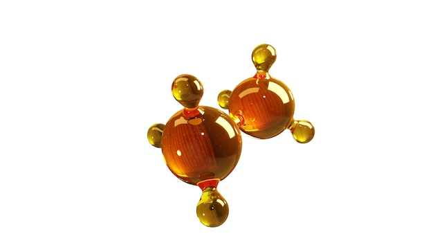 Modelo de molécula isolada