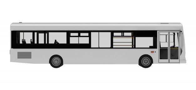 Modelo de ônibus branco cidade