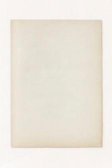 Modelo de papel artesanal vintage em branco