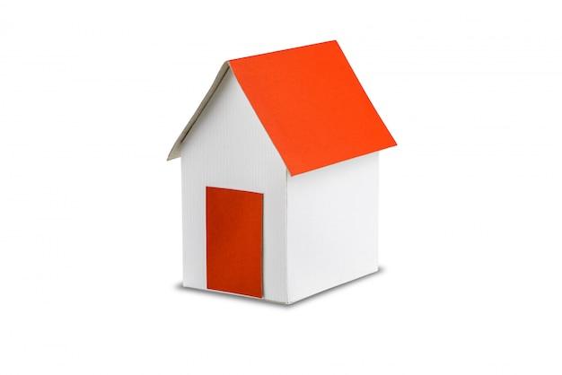 Modelo de papel para casa isolado no branco