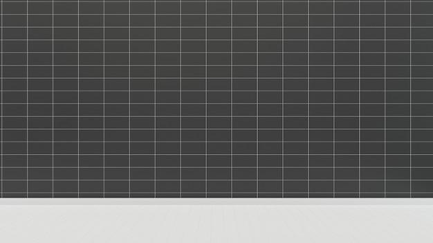 Modelo de plano de fundo da casa de sala de telha parede preto piso branco