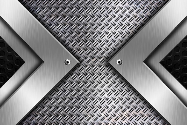 Modelo de plano de fundo de metal moderno