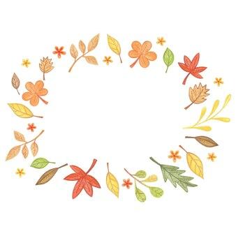 Modelo de quadro de outono para folhas de outono