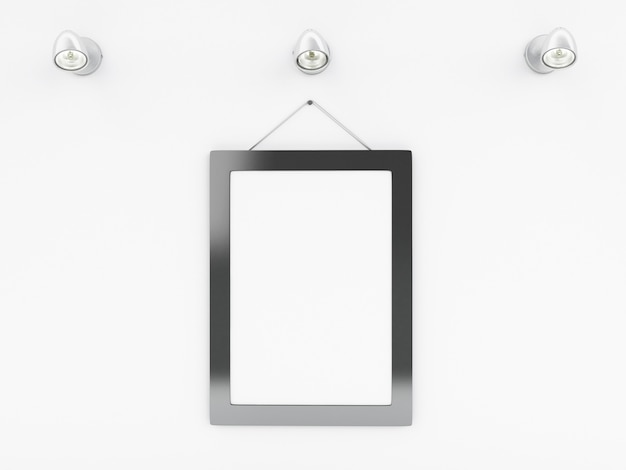 Modelo de quadro vazio 3d com lugar para o seu texto e design